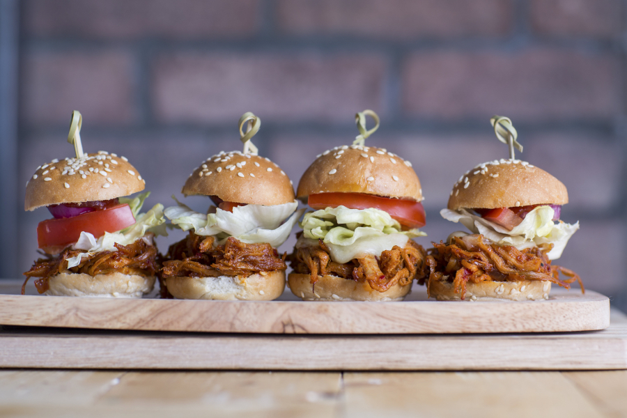 The Classic Mini Pulled Pork Sliders at the Flying Pig Hong Kong