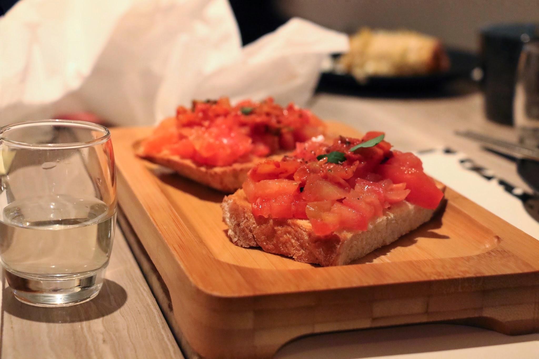 MOYO, Kimchi Bruschetta