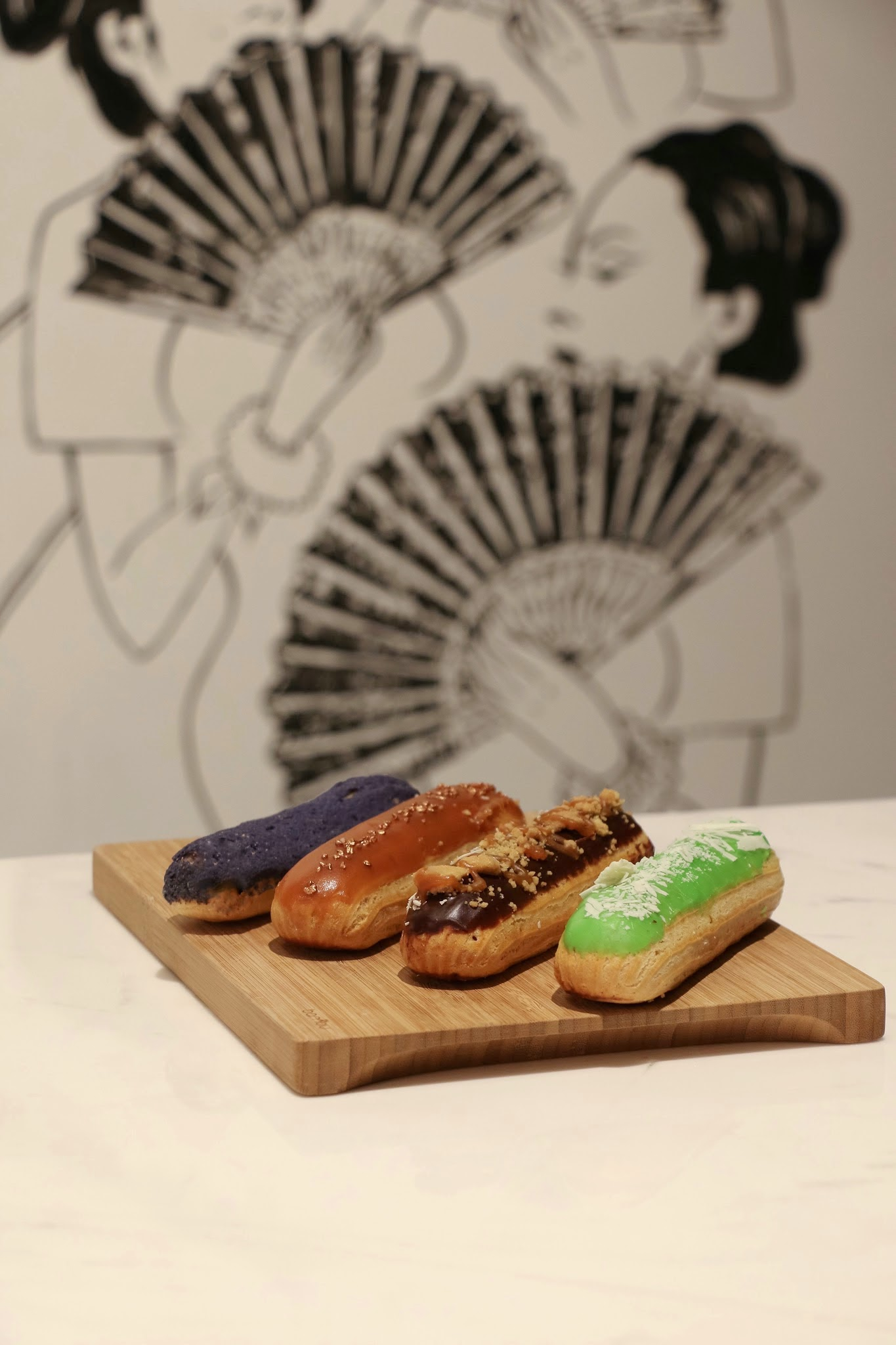 Artisan Room HK, Sweet Potato, Salted Caramel, Banoffee, Matcha Eclairs