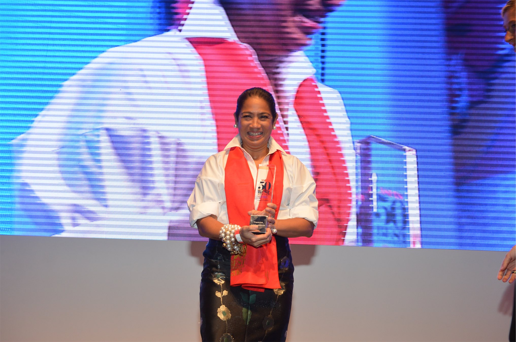 Chef Margarita Forés from the Philippines who is named Asia's Best Female Chef 2016