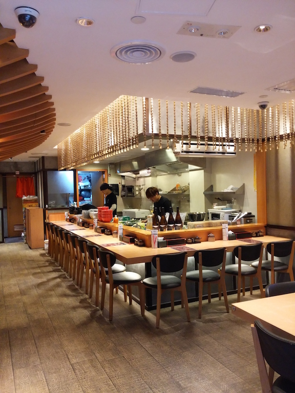 Interior of Ebi Kin Ramen on Hollywood in Central, Hong Kong
