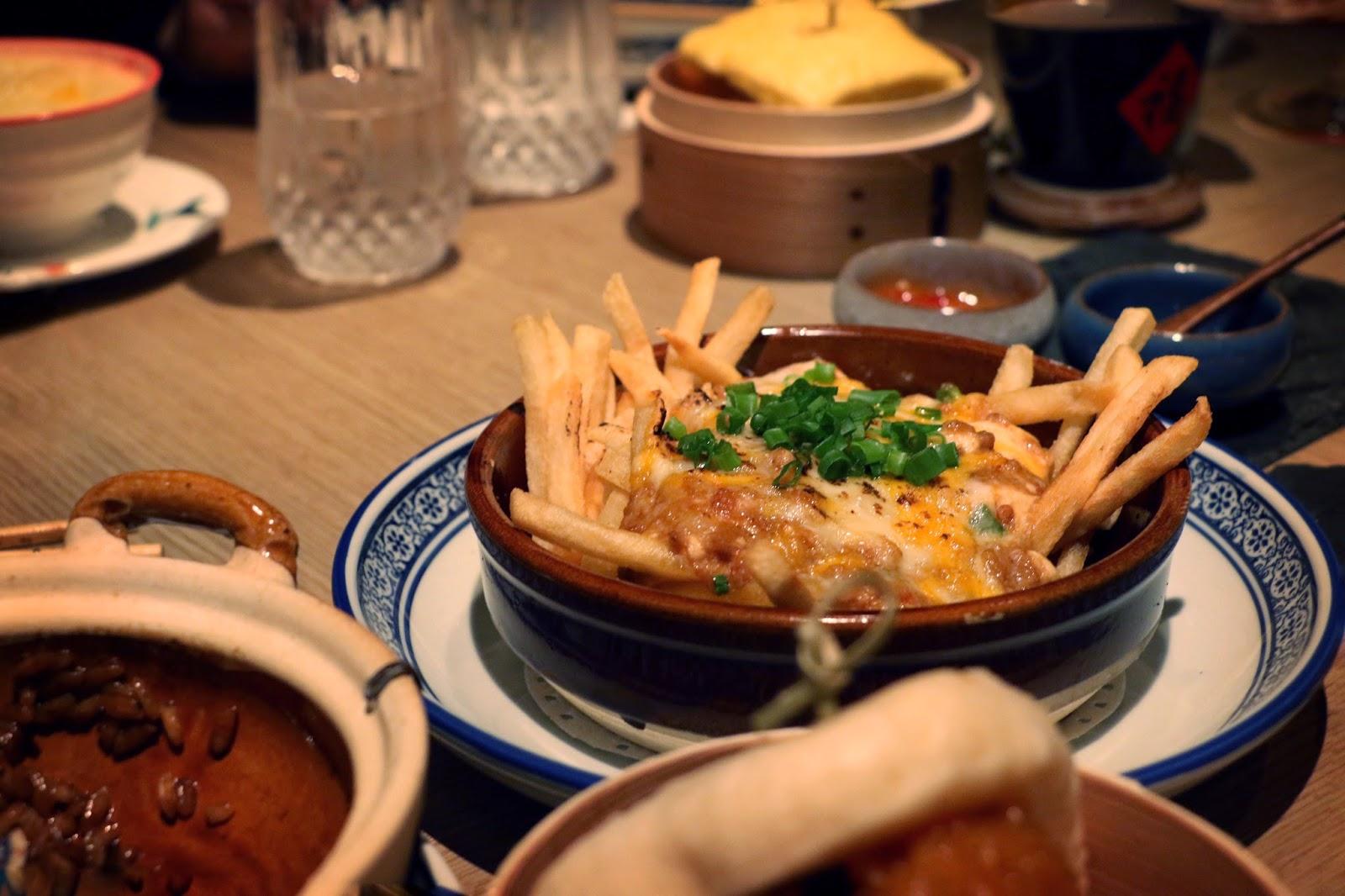Bao Bei HK, Mapo Tofu Poutine, Fries