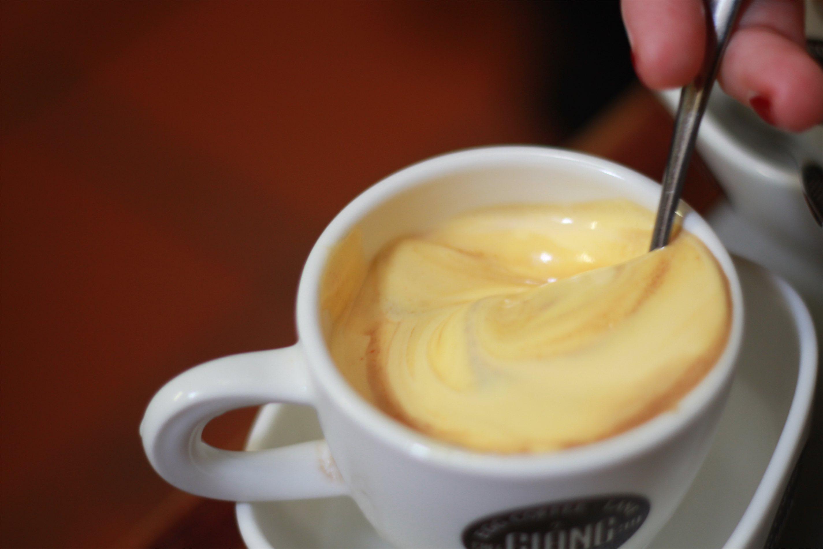 egg coffee at Cà Phê Giang