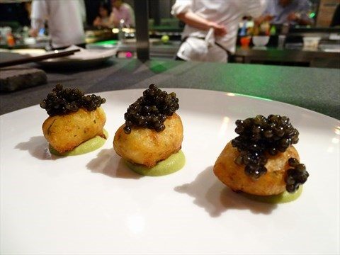 Deep Fried Potato Balls with Caviar