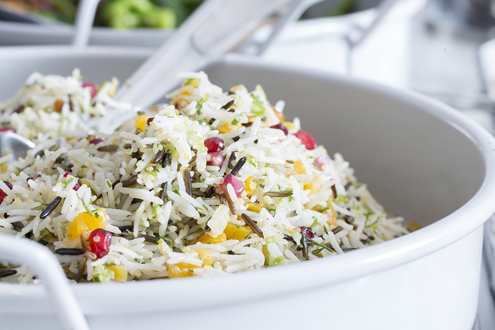 Wild Rice with Pomegranate Seeds & Pistachios
