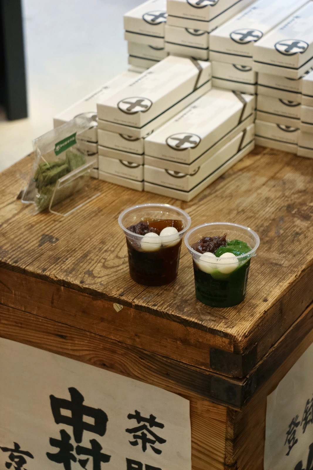 Nakamura Tokichi Pop Up, #TokichiHkatPP, Matcha Tea Jelly, Houjicha Tea Jelly