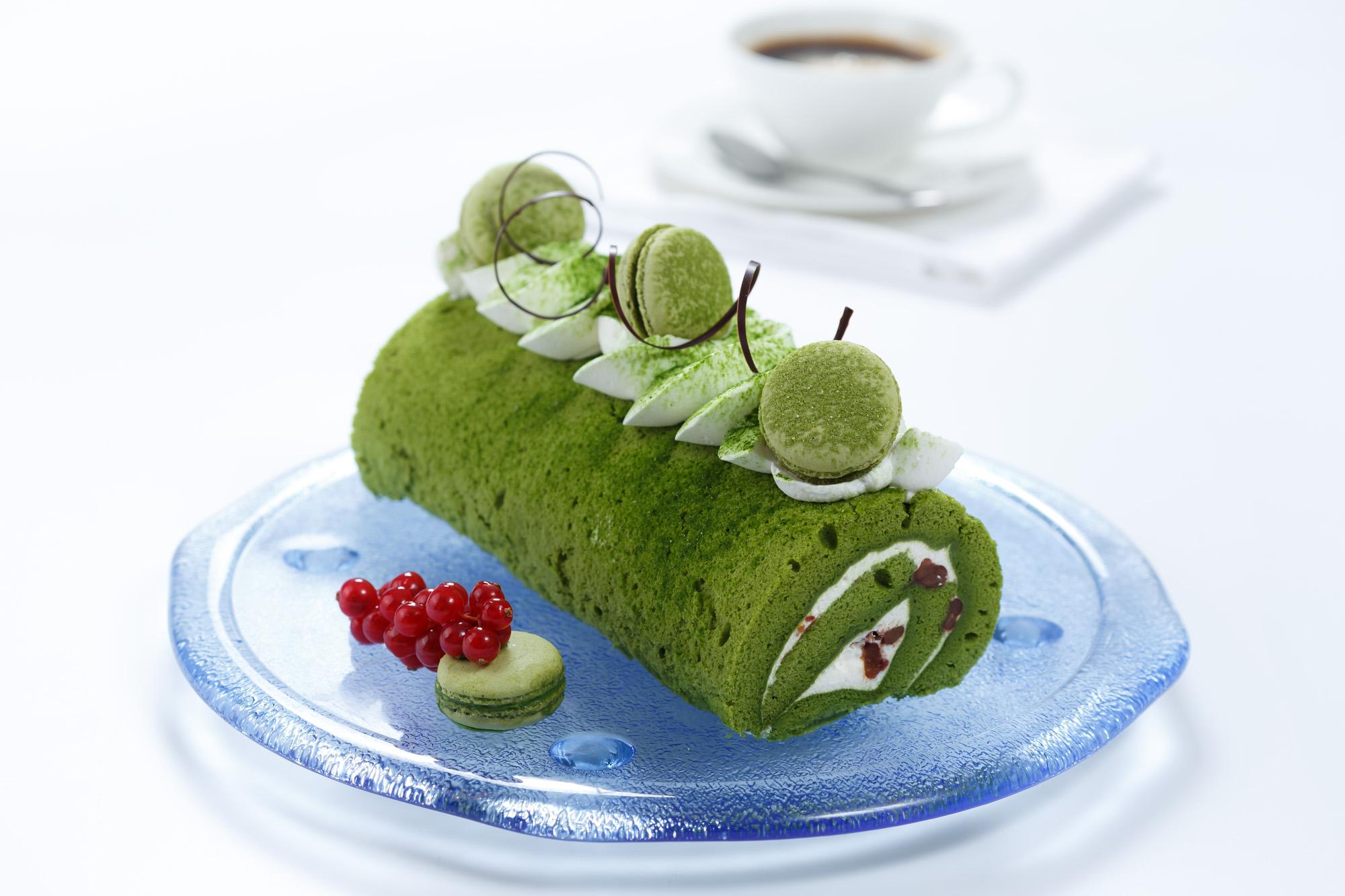 Kowloon Shangri-La, Matcha Green Tea, Deli Kool, Matcha Swiss Roll, Roll Cake
