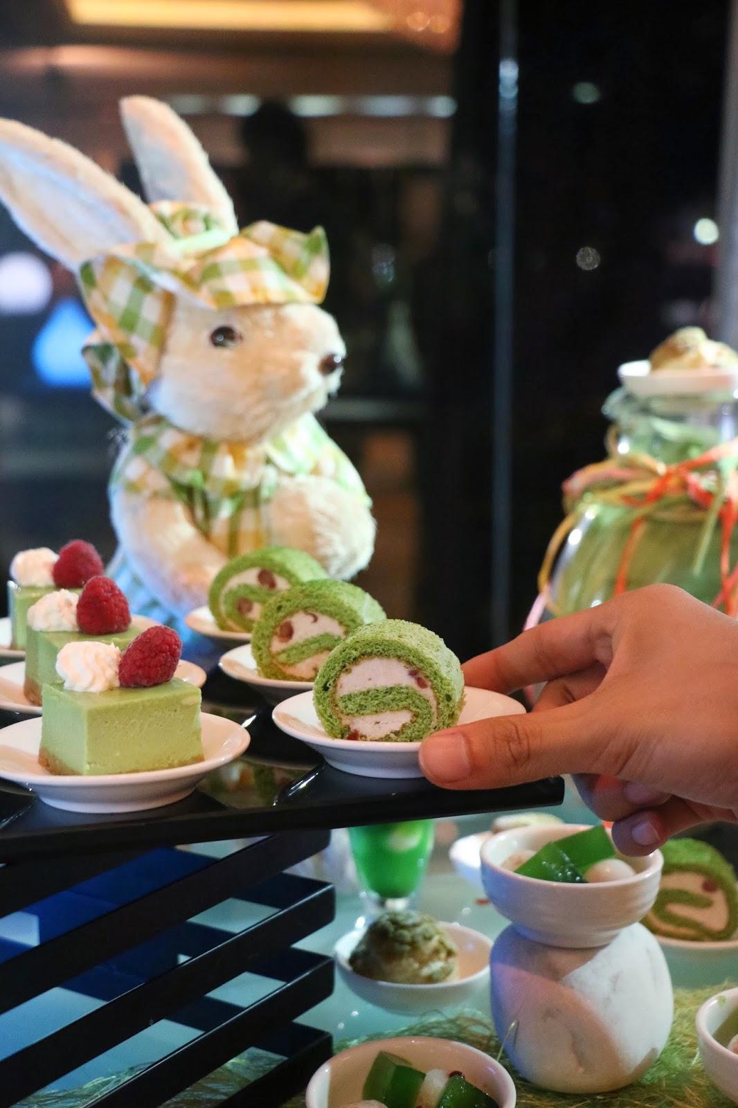 Kowloon Shangri-La, Matcha Green Tea, Shang Palace, Nadaman, Matcha Swiss Roll, Cafe Kool, Lobby Lounge