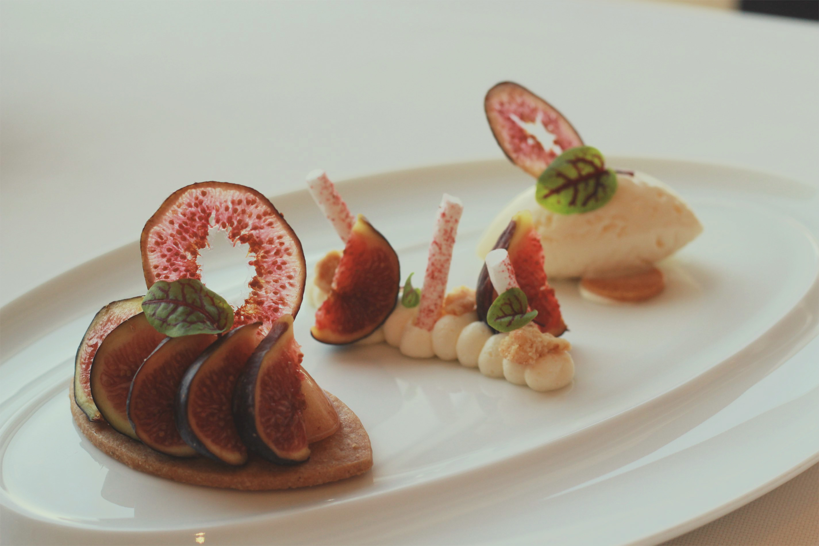 Fig dessert at the Four Seasons Hong Kong