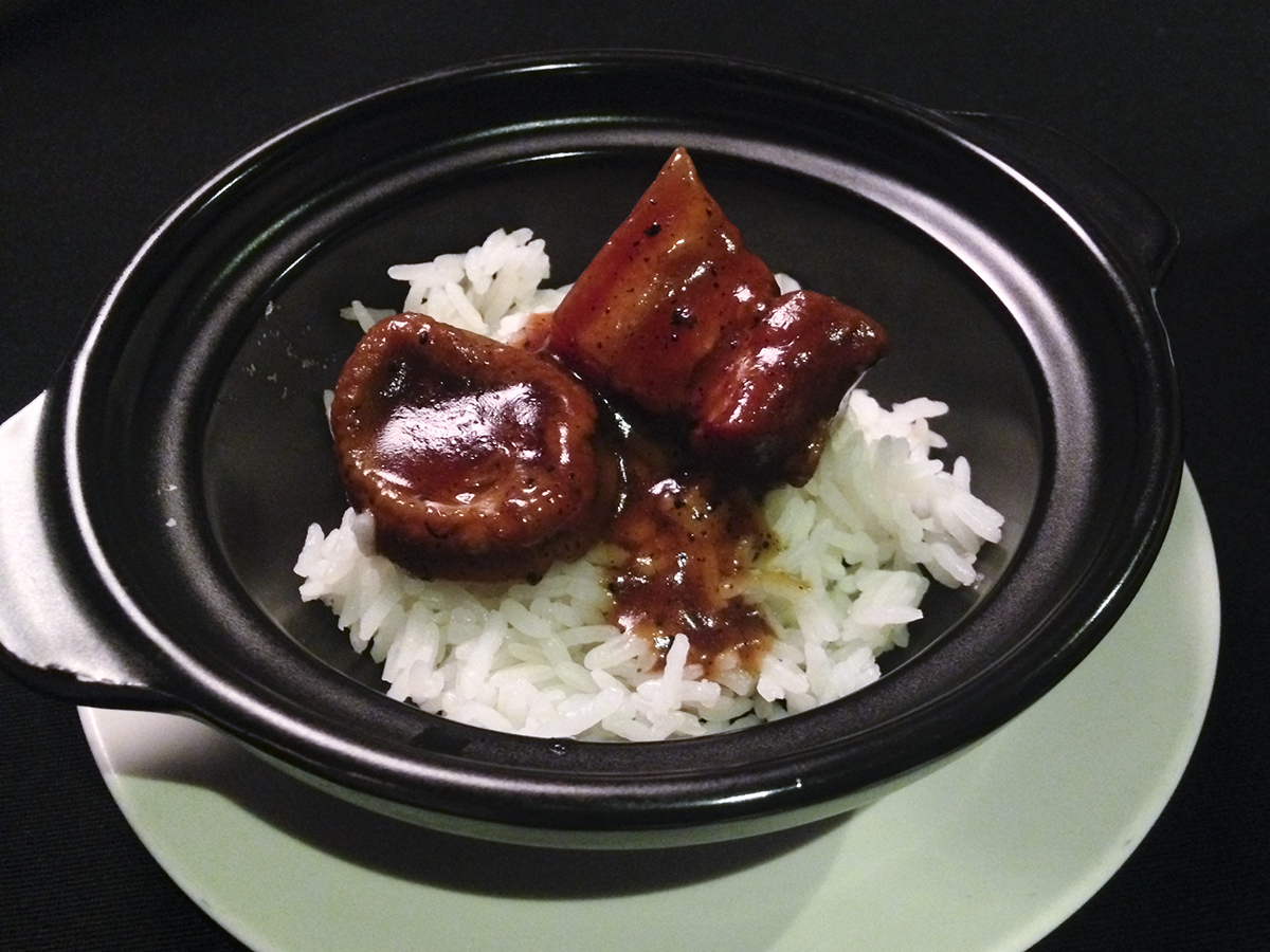 Braised Rice with Abalone, Pork Belly, and Black Truffle