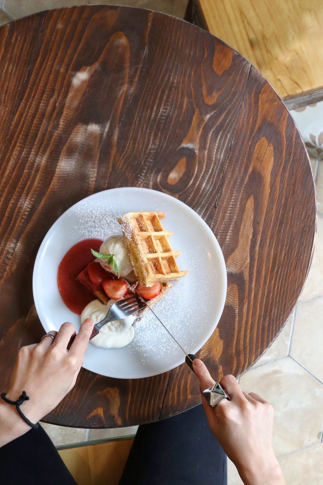 Artisan Garden Cafe, Sai Ying Pun, Strawberry Waffle Sandwich, Plain Yogurt