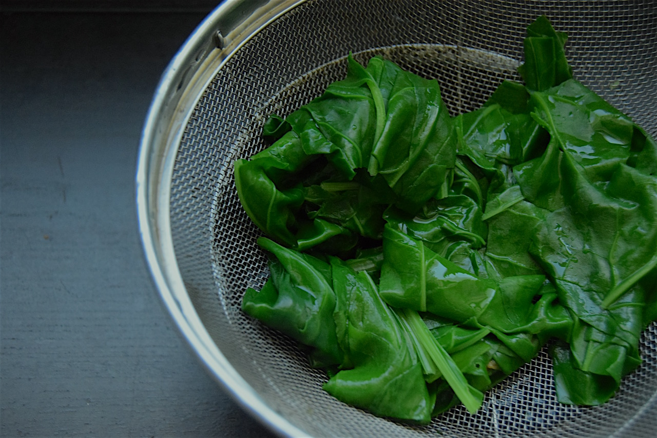 My yummy blanched spinach