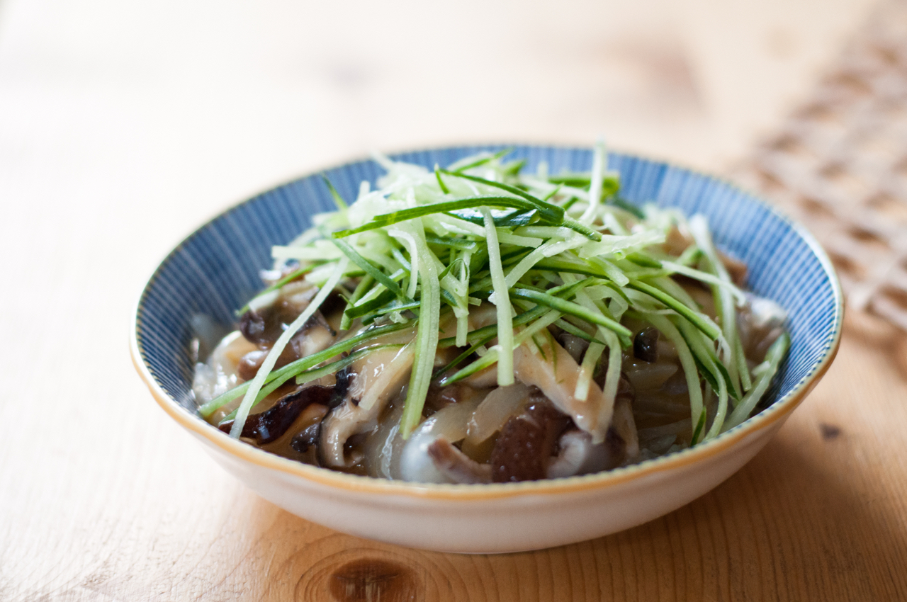 Mushroom noodles from Sohofama