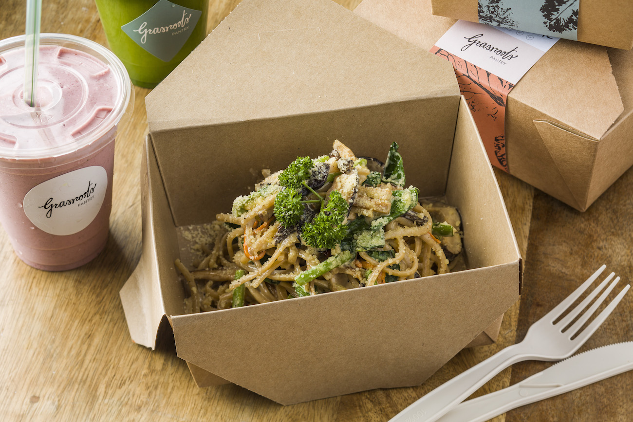 Mushroom linguine from Grassroots Pantry
