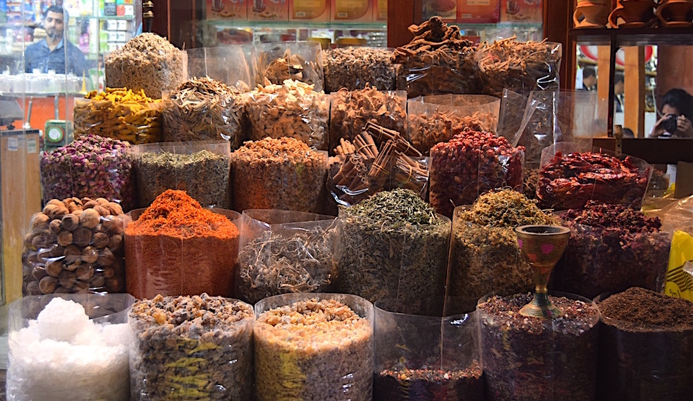 Spices on display