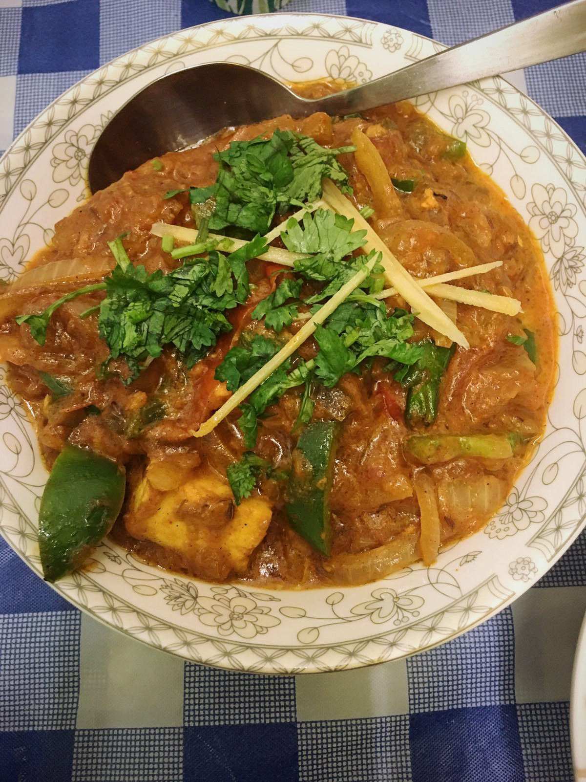 Paneer kadai at Indian Curry Express