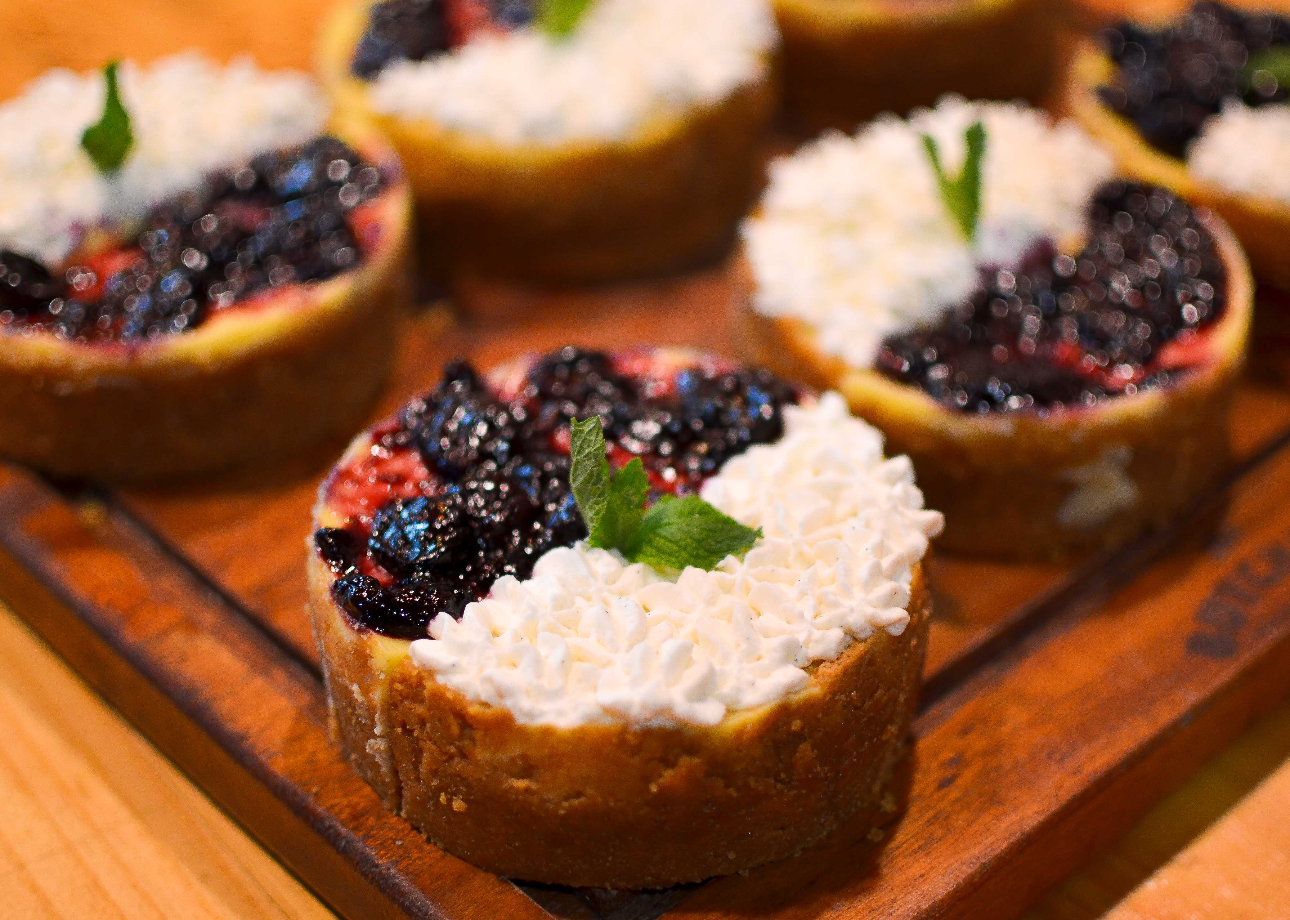 Blueberry Cheesecakes and  Key Lime Pies