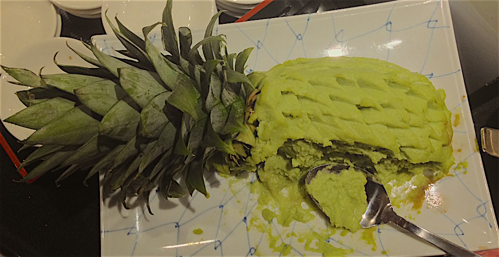 Beautifully plated wasabi