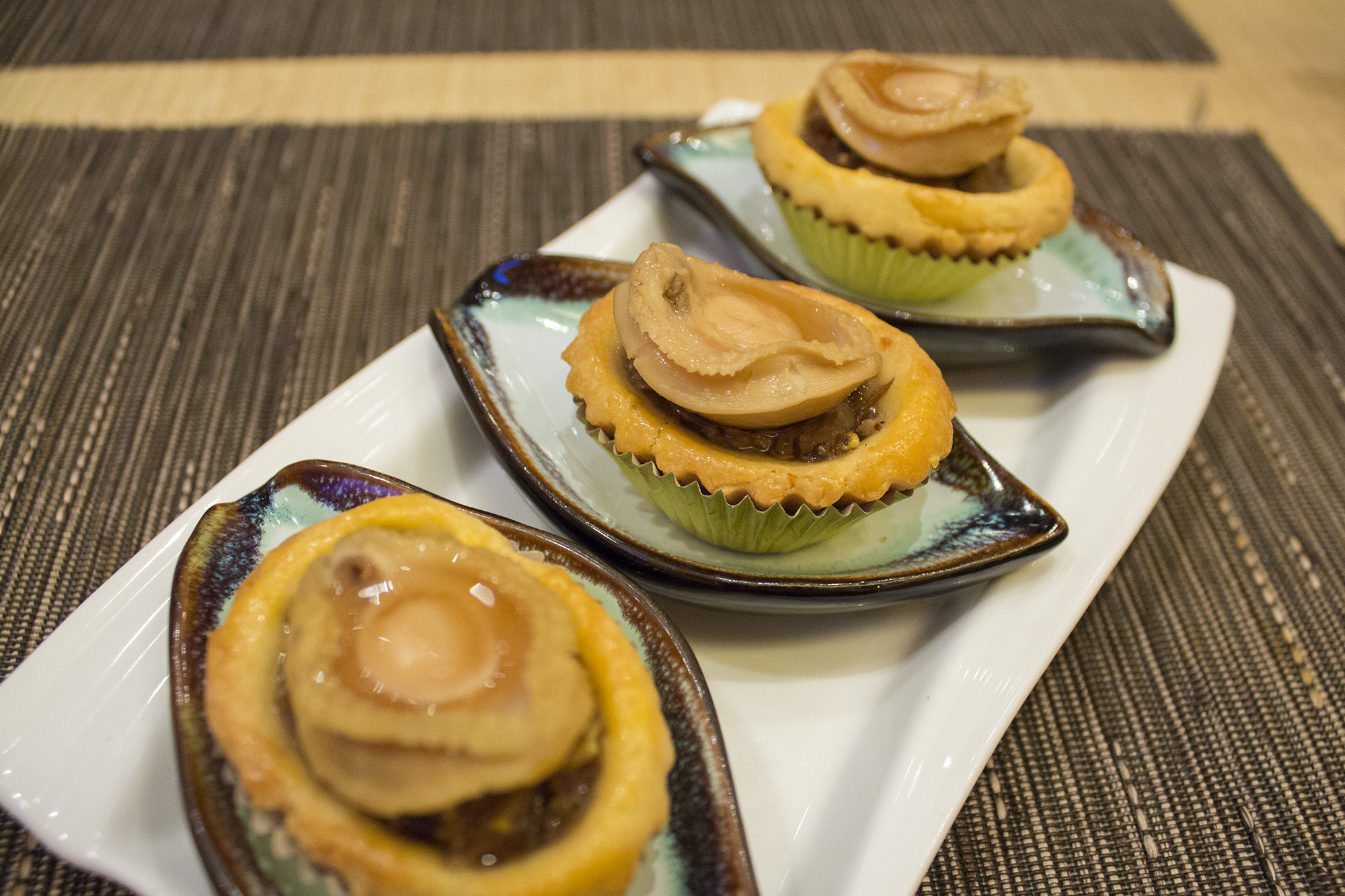 Baked Abalone and Chicken Pastry