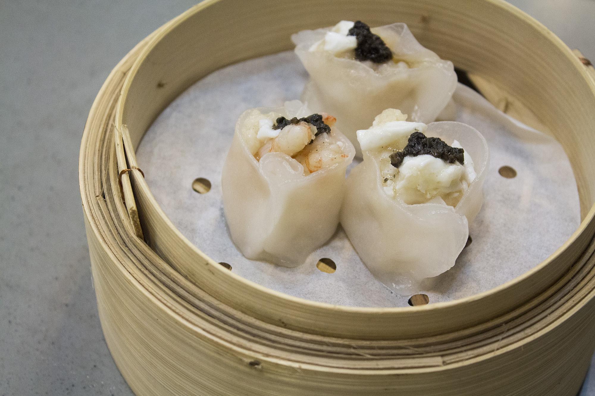 Perigord truffle and scrambled egg white dumplings