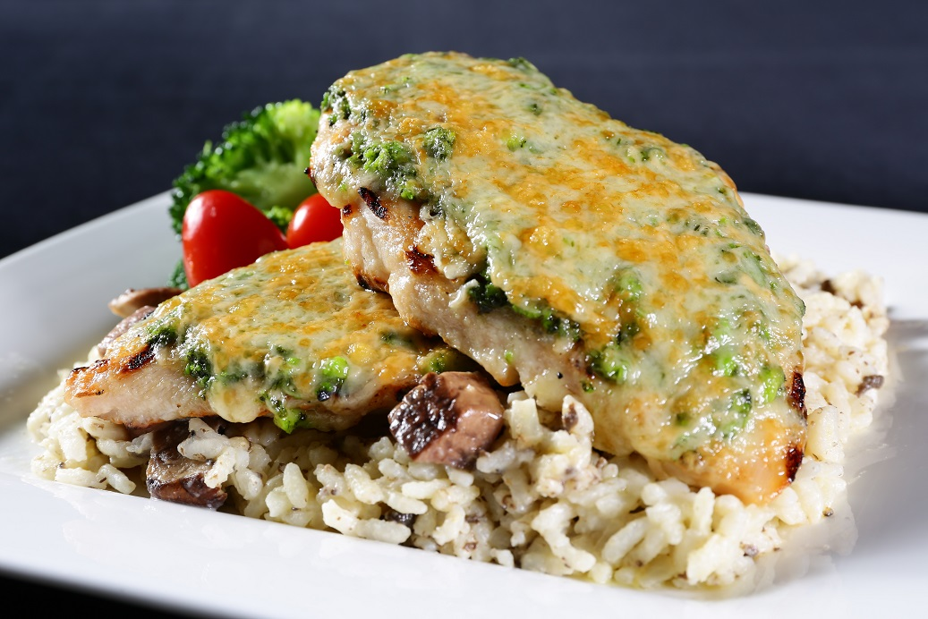Ruby Tuesday Pesto Chicken with Truffle Risotto