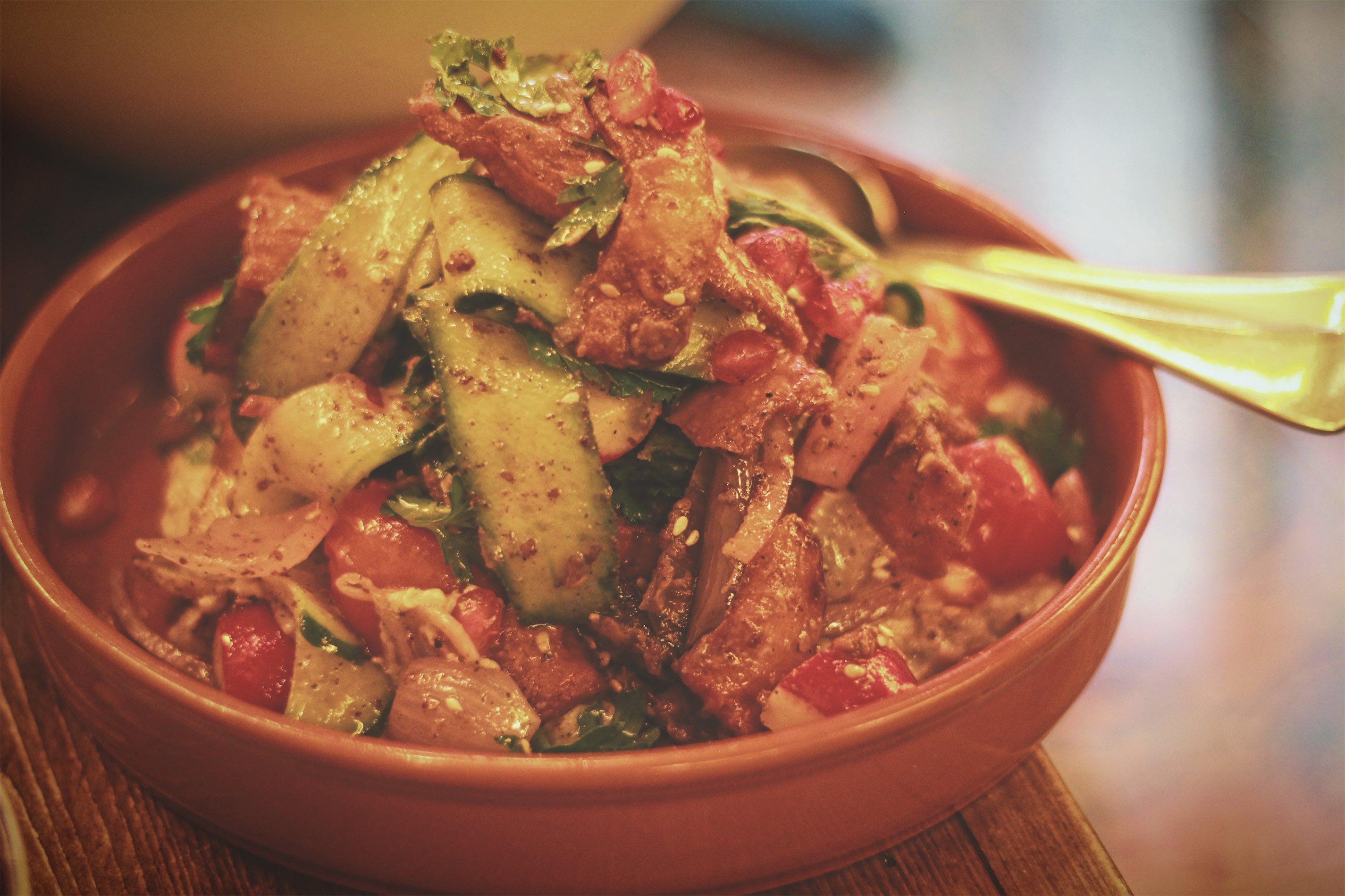 Hong Kong: Fattoush Salad at Maison Libanaise