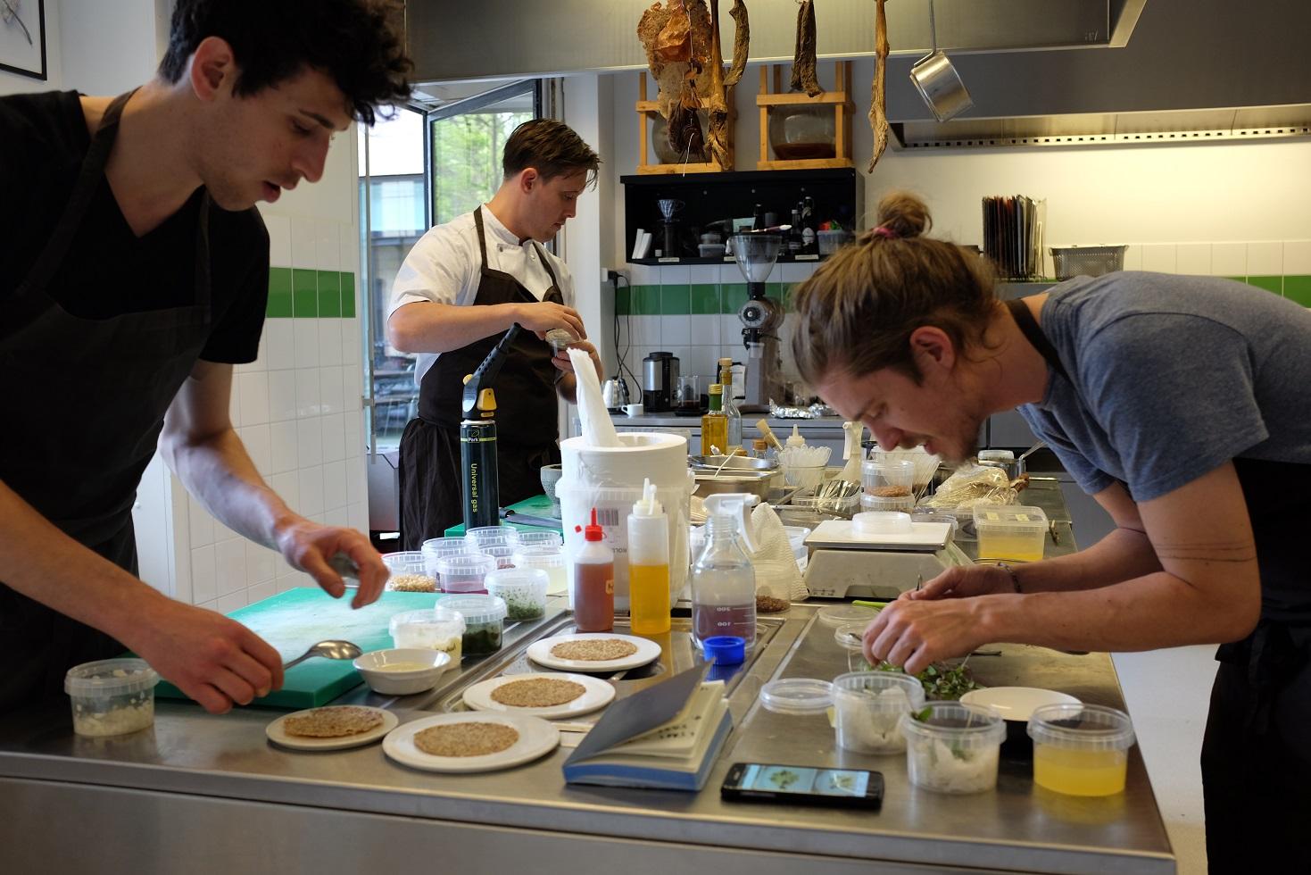 Lead Researcher Josh Evans, Chef Nurdin, Chef Josh Pollen
