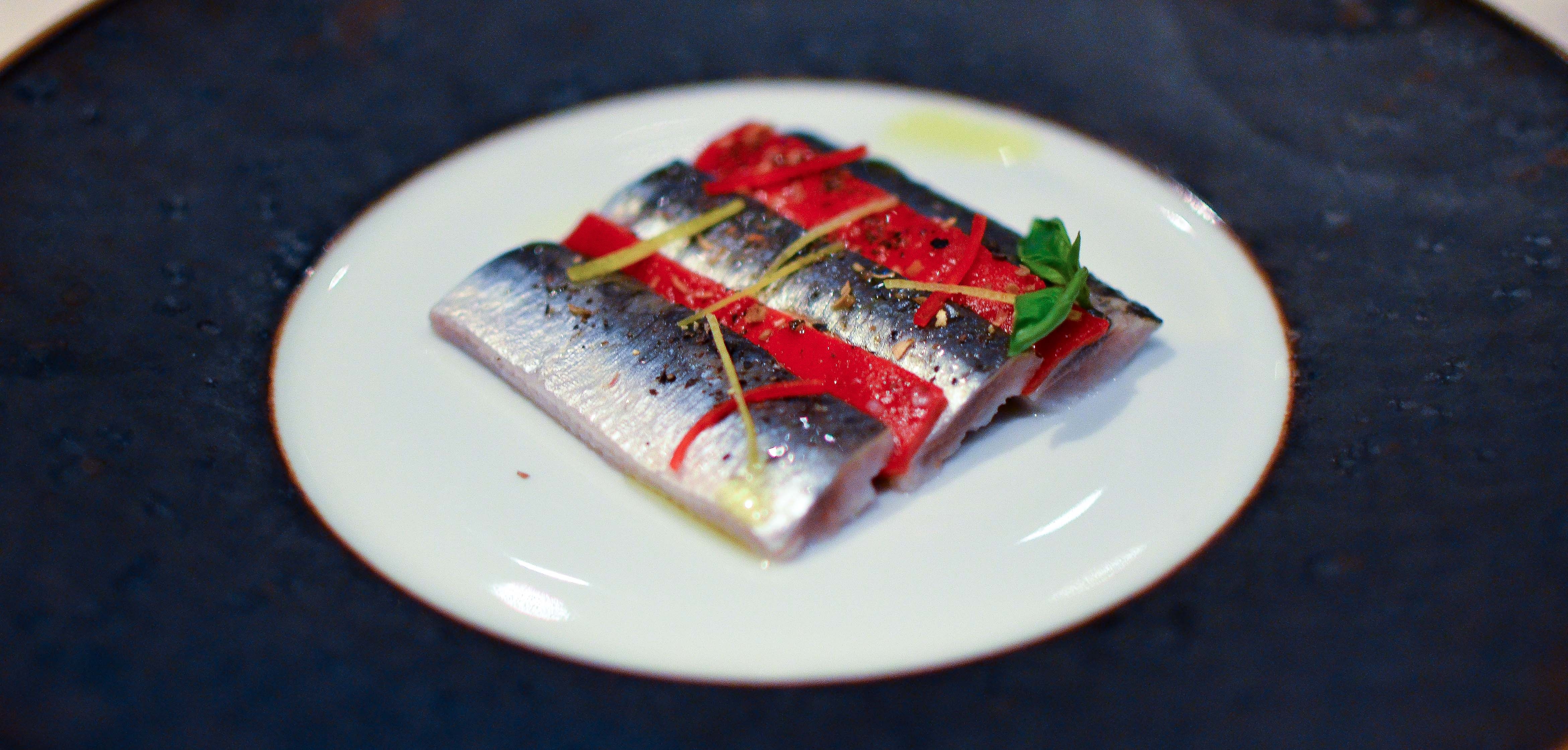 Marinated Sardines with Confit Bell Peppers