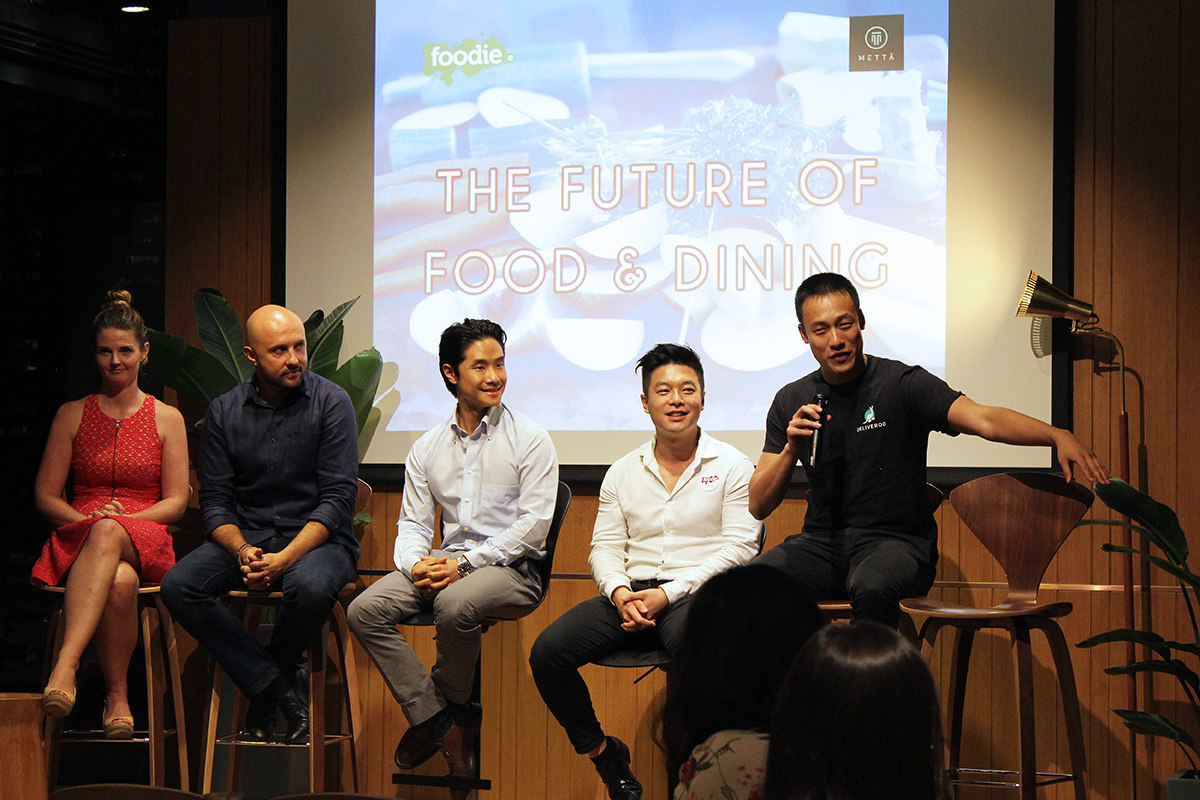 From left to right: Alicia Walker; editor-in-chief at Foodie, Edgar Sanuy; corporate chef at Maximal Concepts, Brian Mak; country manager of The Entertainer Hong Kong, Wesley Tang; general manager at Chope, and Brian Lo; general manager at Deliveroo Hong Kong
