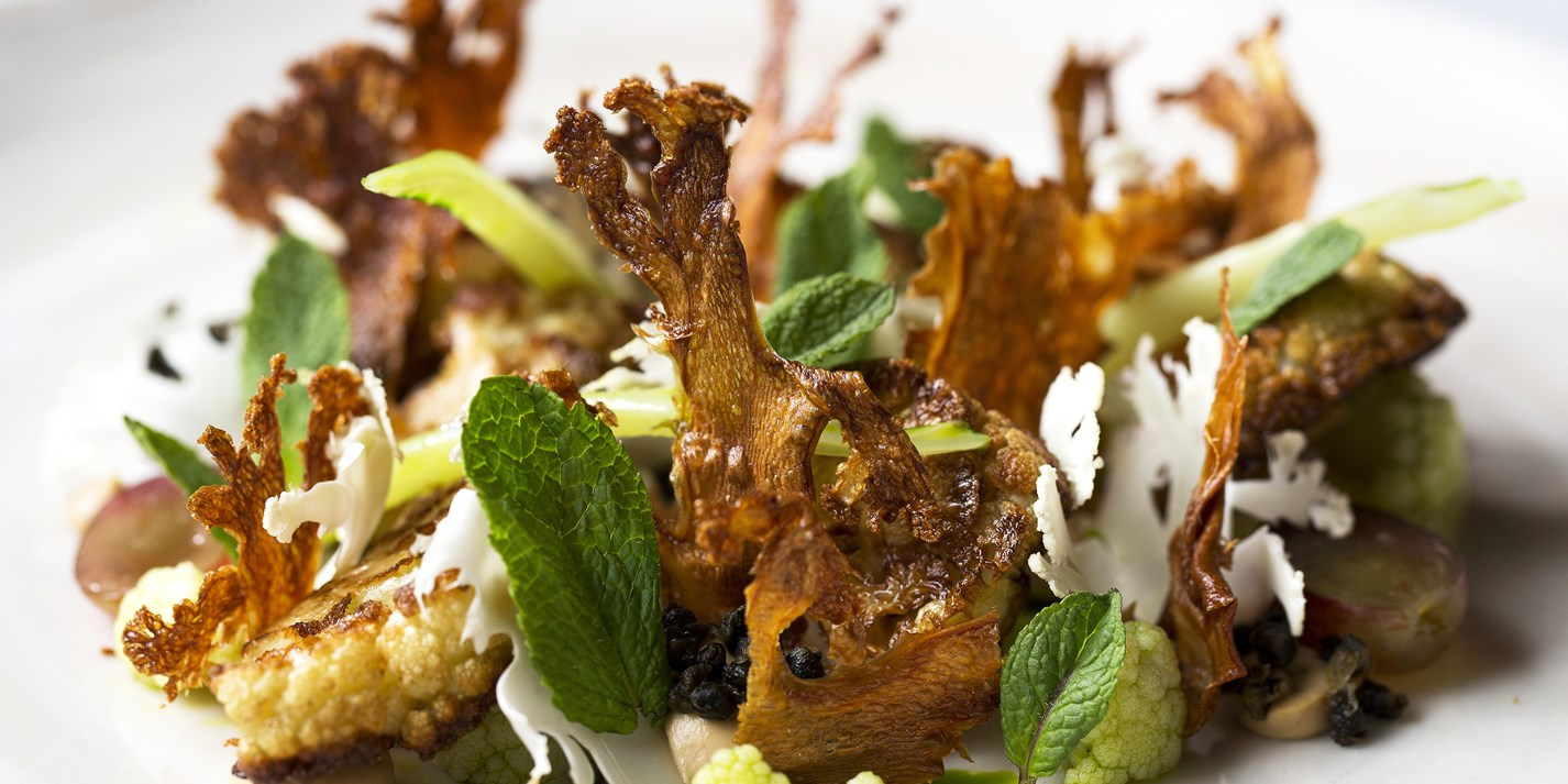 Yeasted Cauliflower, Capers, Raisins and Mint