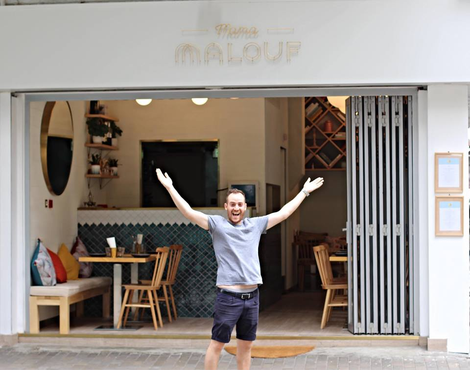 Alex Malouf outside Mama Malouf in Kennedy Town