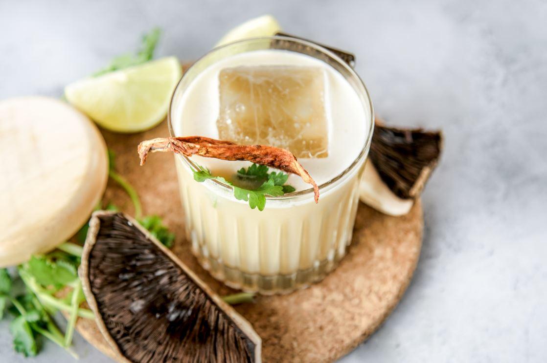 Mushroom Flip Cocktail