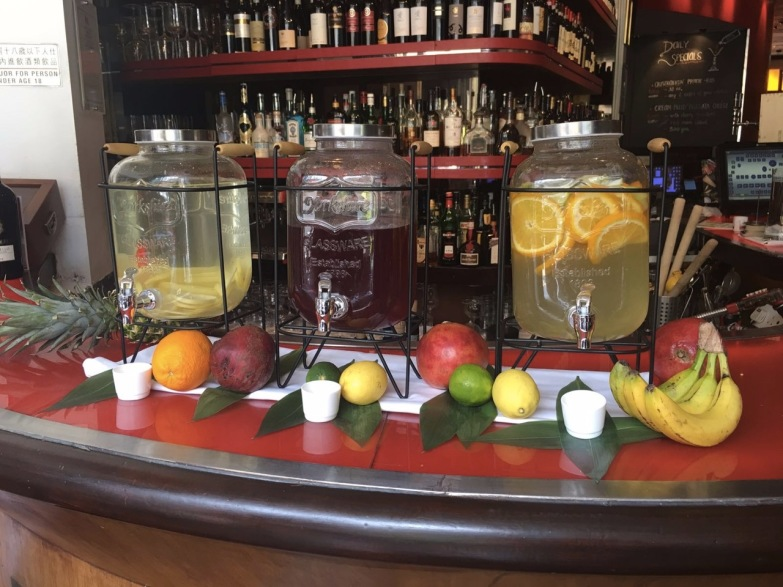 Detox water drink stations at DiVino Wine Bar & Restaurant