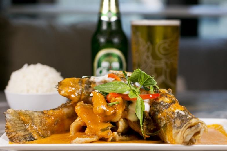 Café Siam - Beer Fish in Panang Sauce