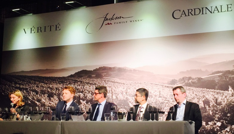 Panelists: James Tookey, VP of Jackson Family Wines for Asia, Europe and Middle East; Dimitri Mesnard MS, International Brand Ambassador at Jackson Family Wines; Darius Allyn MS; Debra Meiburg MW and Tan Ying Hsien MW