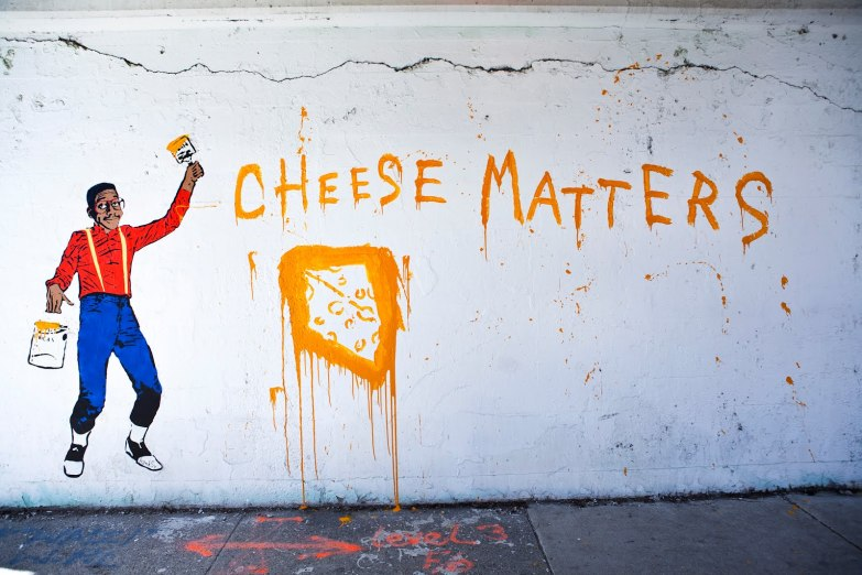"Hanksy ""Cheese matters"""