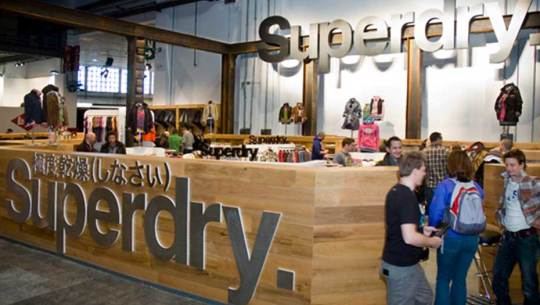 Superdry retail trade stand displays