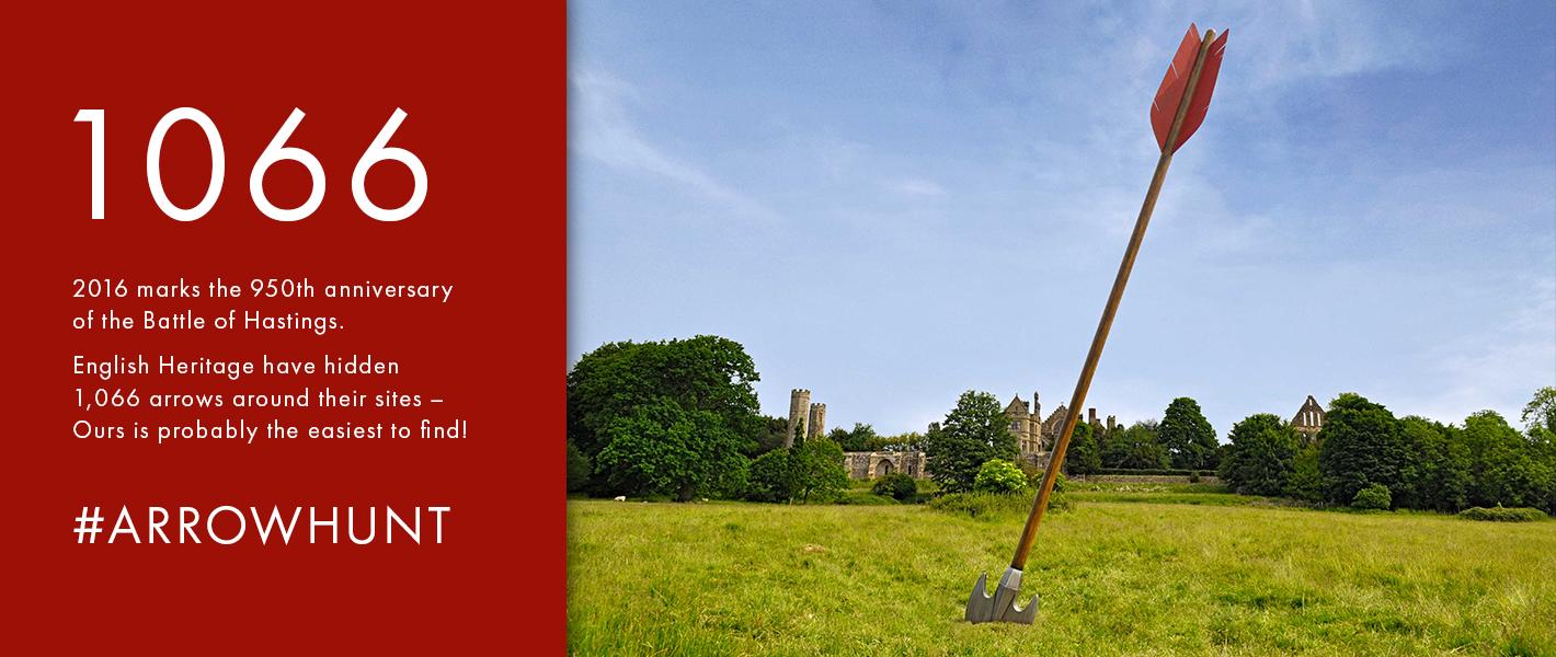 Cod Steaks help English Heritage launch their 1066 arrow hunt