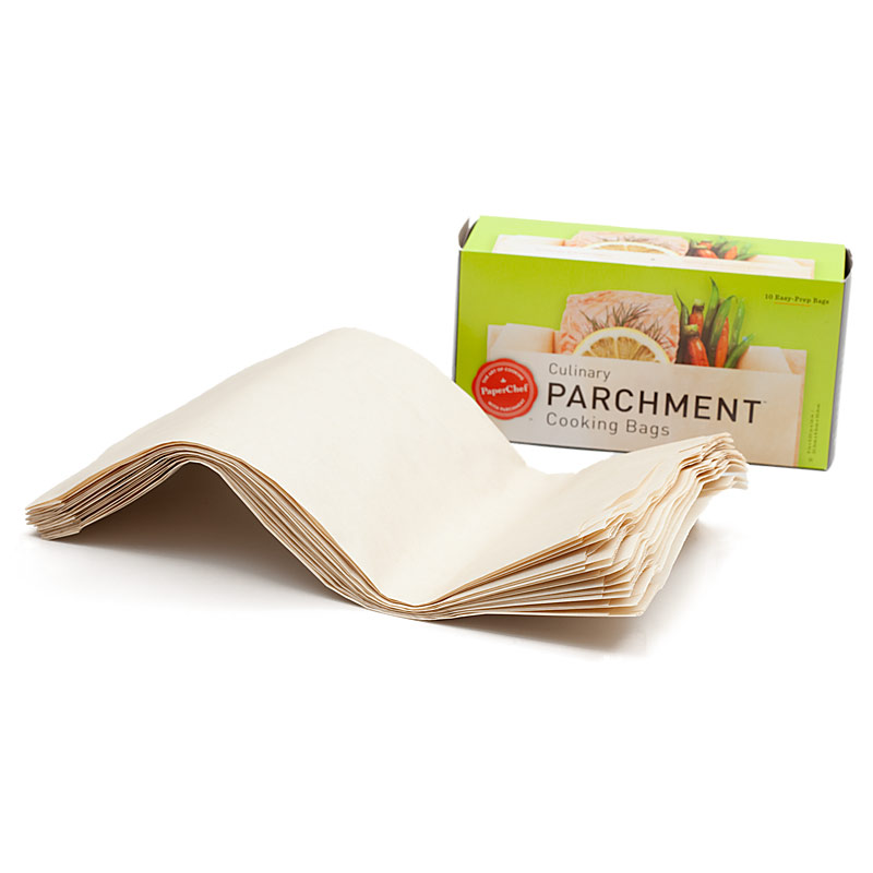 cooking in paper french term Enclosing foods (like fish) in parchment paper or foil and cooking in an oven or on a grill en papilotte: [french] food wrapped, cooked and served in oiled or buttered paper or foil.