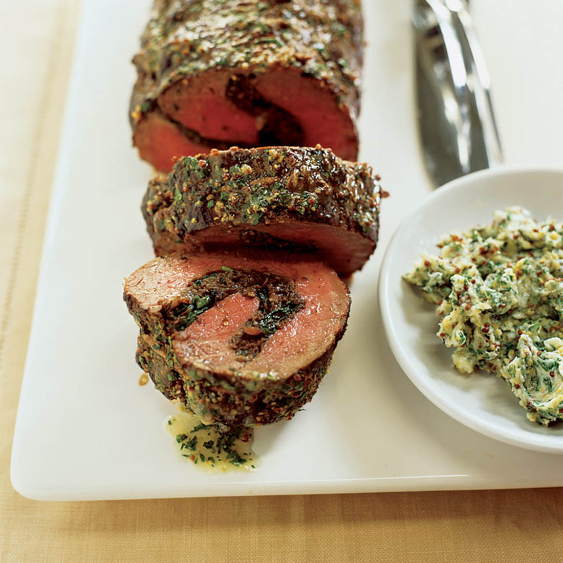 Roast Beef Tenderloin With Dried Fruit And Nut Stuffing