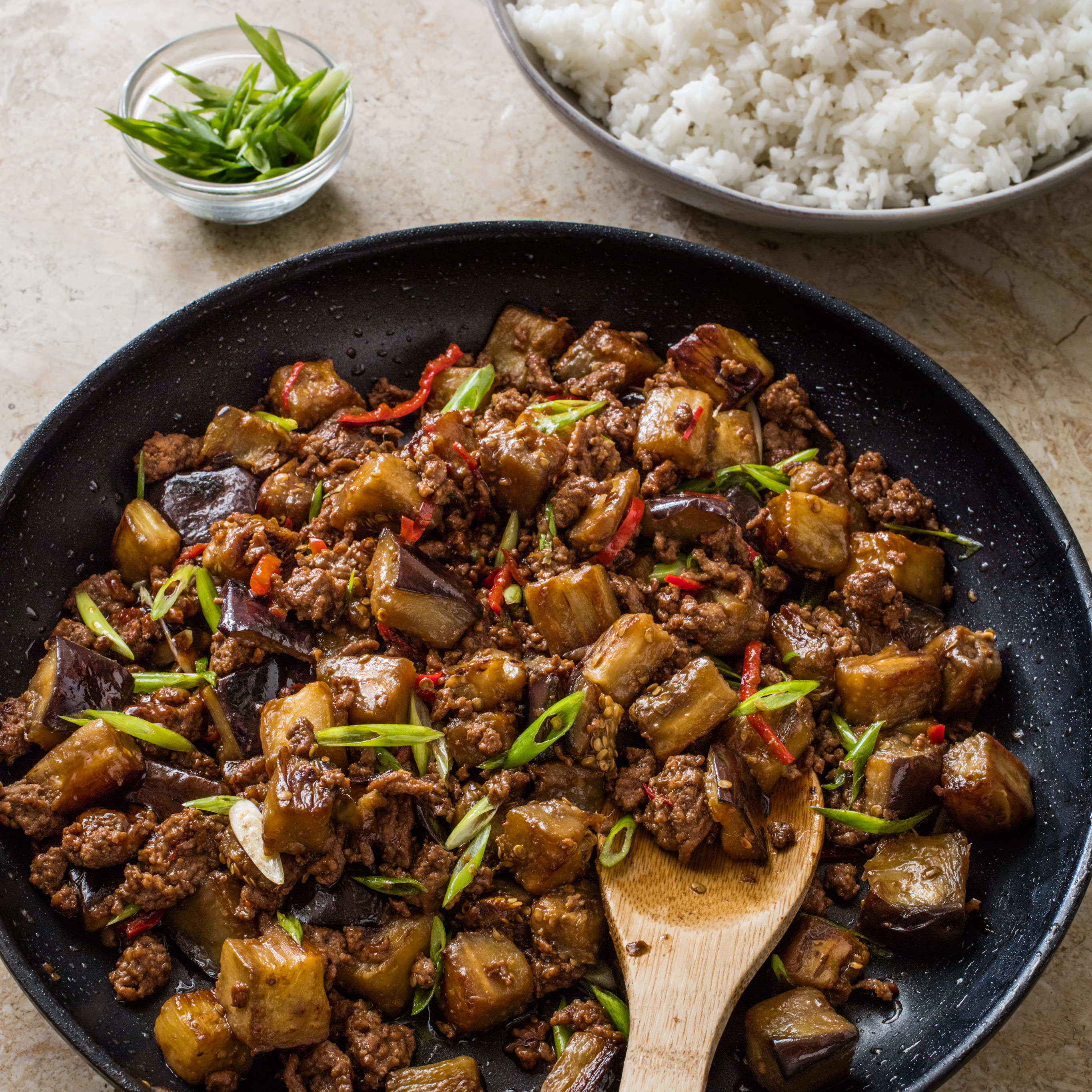 Chinese,Style Beef and Eggplant