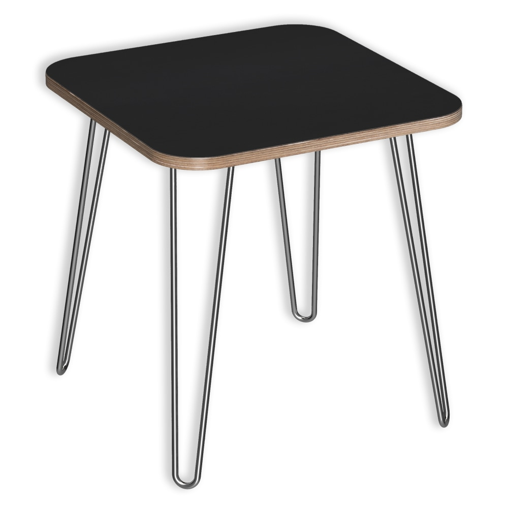 Image for DesignerPly Square End Table Matte Black 991060MB from SmartMoves Adjustable Height Desks Official Website