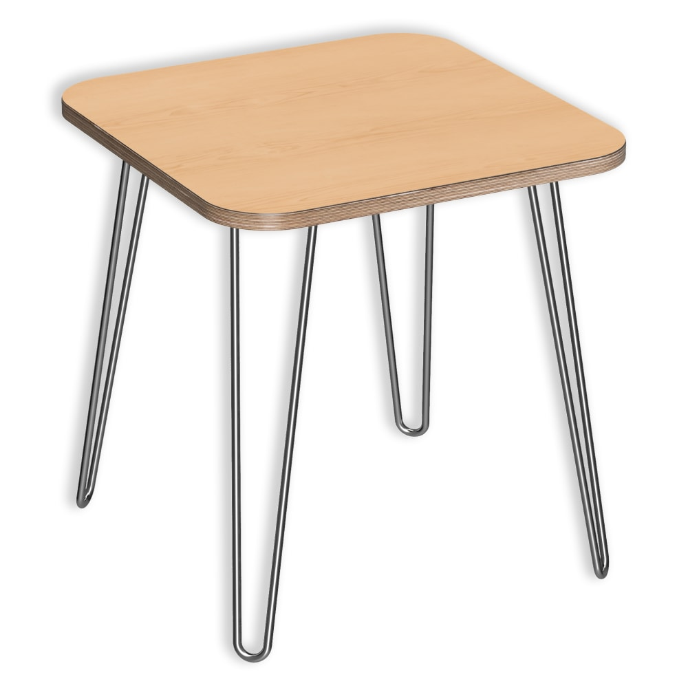 Image for DesignerPly Square End Natural Maple Table 991060MP from SmartMoves Adjustable Height Desks Official Website