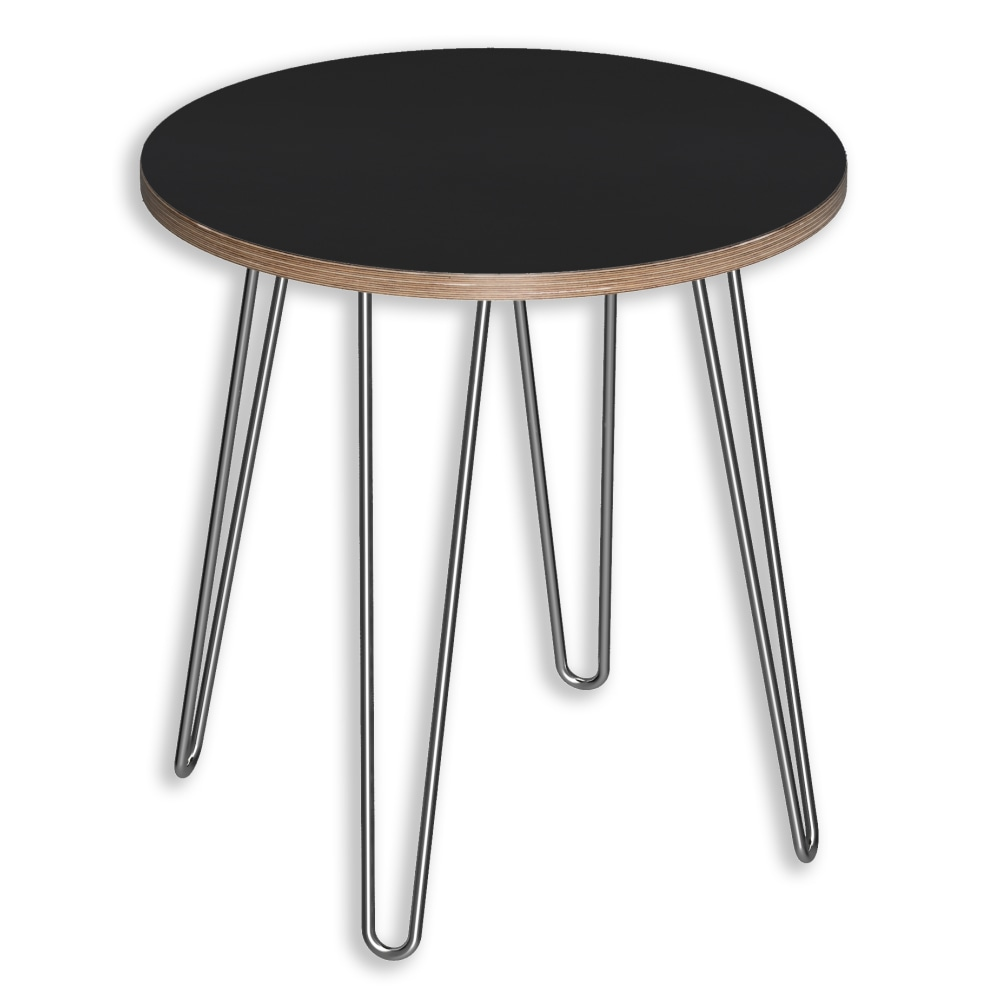 Image for DesignerPly Round End Table Matte Black 991061MB from SmartMoves Adjustable Height Desks Official Website