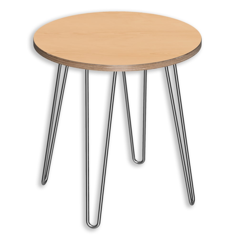 Image for DesignerPly Round End Table Natural Maple 991061MP from SmartMoves Adjustable Height Desks Official Website