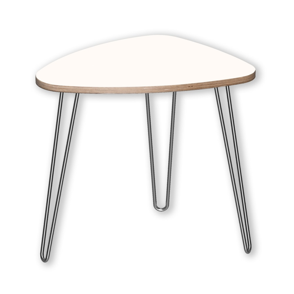Image for DesignerPly Triangle End Table Designer White 991062DT from SmartMoves Adjustable Height Desks Official Website