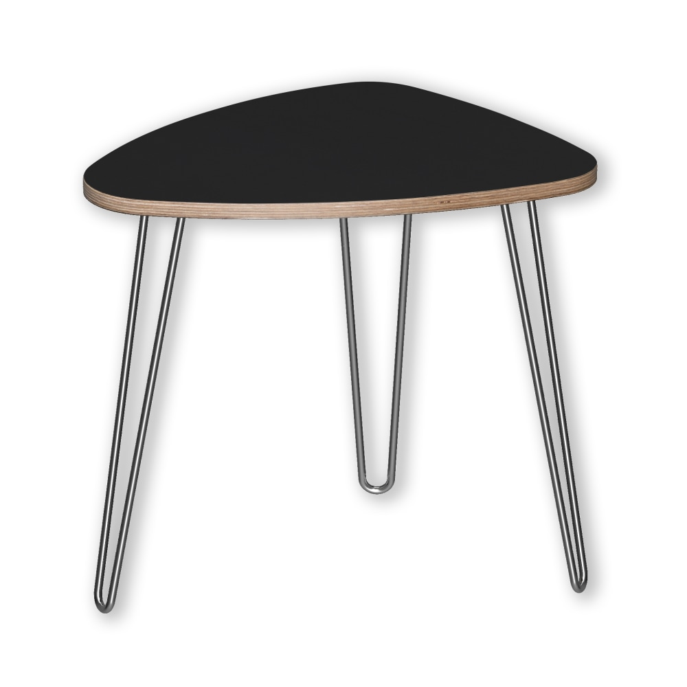 Image for DesignerPly Triangle End Table Matte Black 991062MB from SmartMoves Adjustable Height Desks Official Website