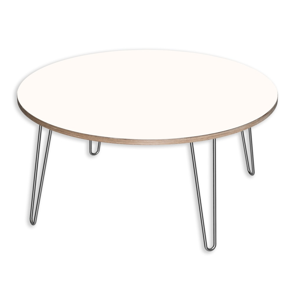 Image for DesignerPly Round Coffee Table Designer White 991064DT from SmartMoves Adjustable Height Desks Official Website