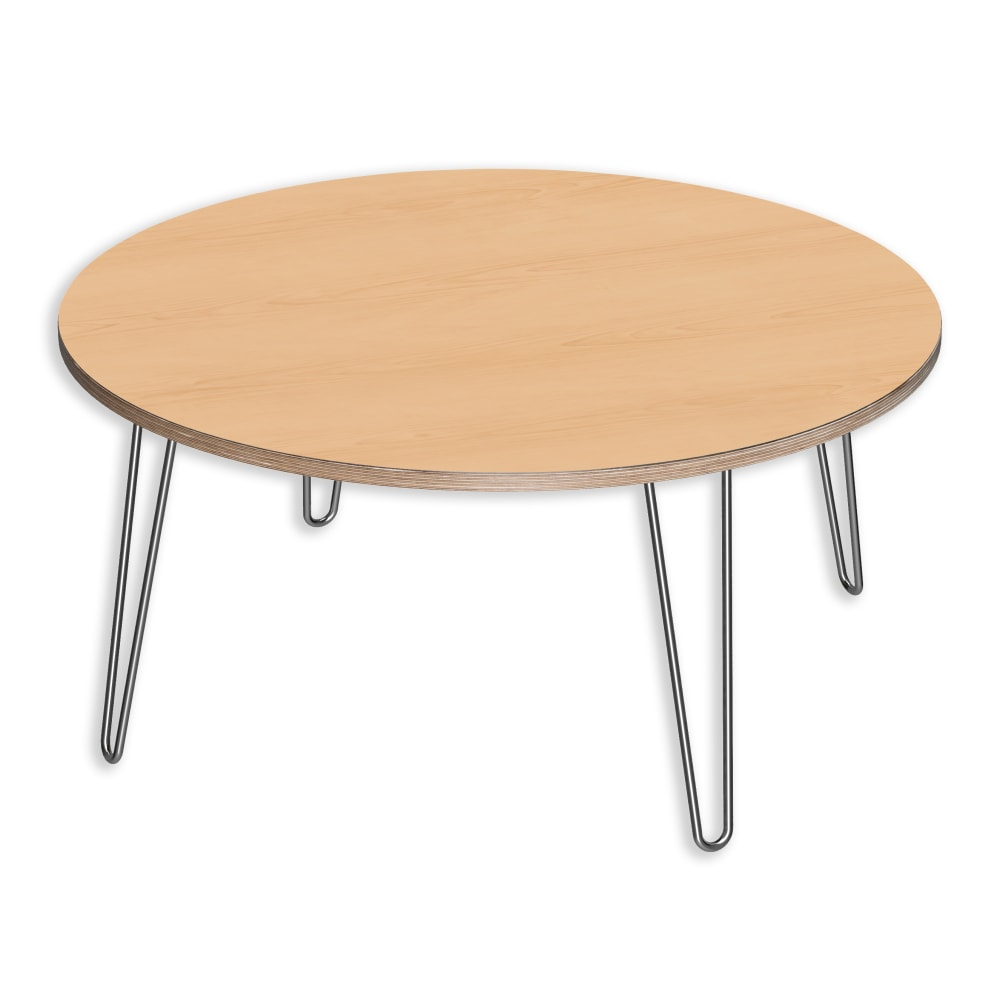 Image for DesignerPly Round Coffee Table Natural Maple 991064MP from SmartMoves Adjustable Height Desks Official Website