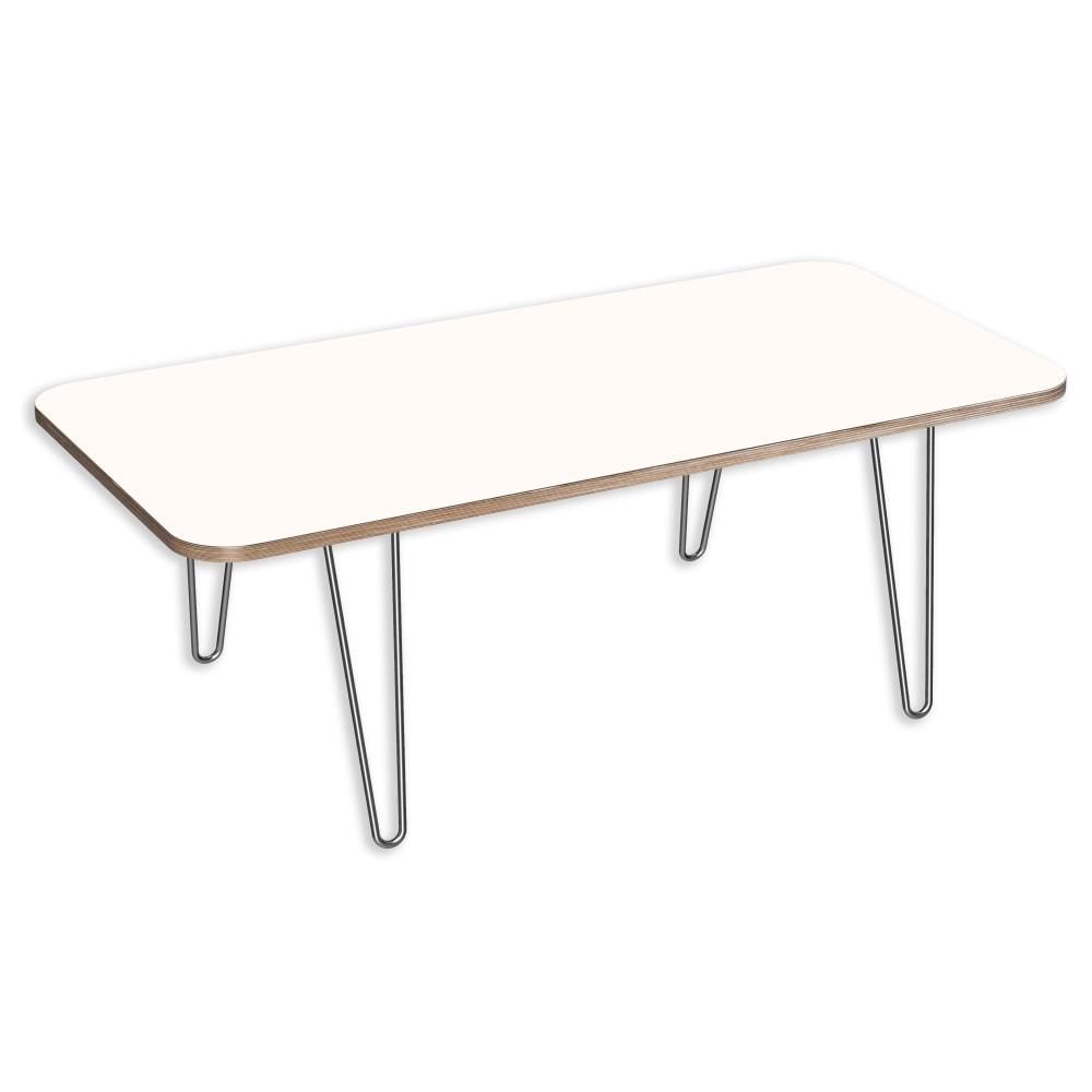 Image for DesignerPly Rectangular Coffee Table Designer White 991070DT from SmartMoves Adjustable Height Desks Official Website